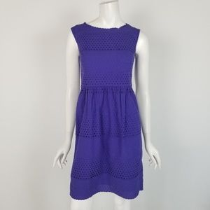 J. Crew Lucille Dress in Scalloped Eyelet Size 2